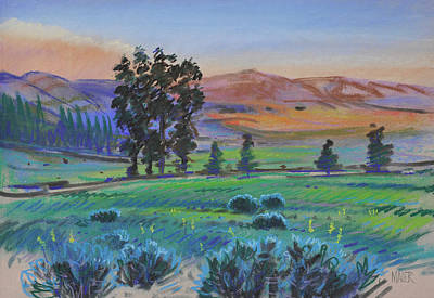 Yellowstone Wall Art - Painting - Paradise Valley by Donald Maier