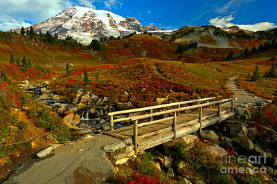 Photograph - Paradise Valley Edith Creek Bridge by Adam Jewell