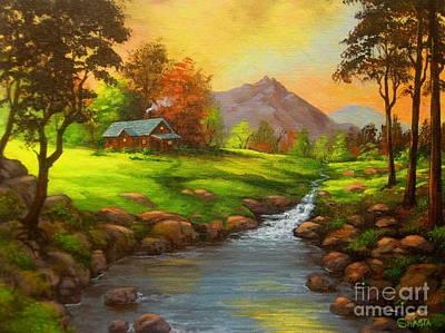 Paradise  Valley Art Print by Shasta Eone