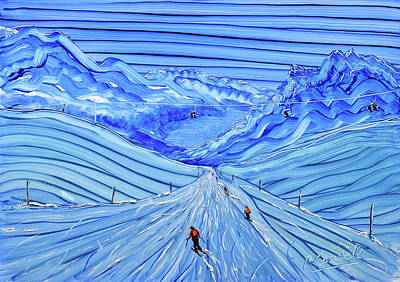Painting - Paradiso Piste St Moritz by Pete Caswell