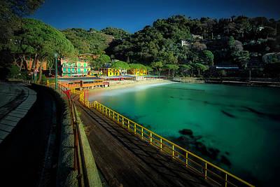 Park Portofino Italy Photograph - Paraggi Bay Beach And Portofino Park by Enrico Pelos