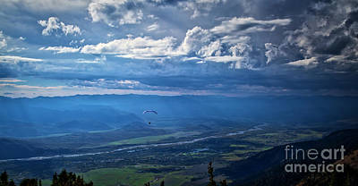 Photograph - Paragliding Above Jackson Hole by Bruce Block