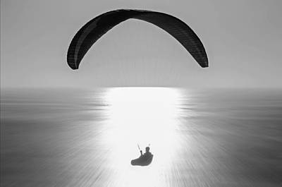 Photograph - Paragliding by Susan  McMenamin