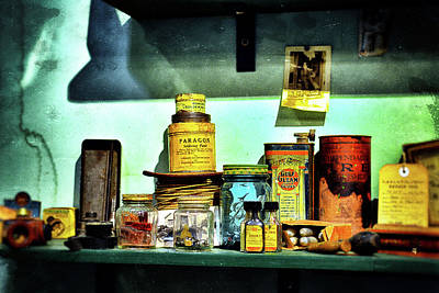 Photograph - Paragon Soldering Paste On A Shelf  by Bill Swartwout