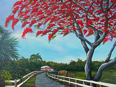 Painting - Paraiso by Gloria E Barreto-Rodriguez