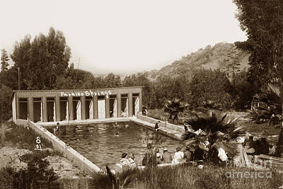 Photograph - Paraiso Hot Springs Salinas Valley Calif. Circa 1908 by California Views Archives Mr Pat Hathaway Archives