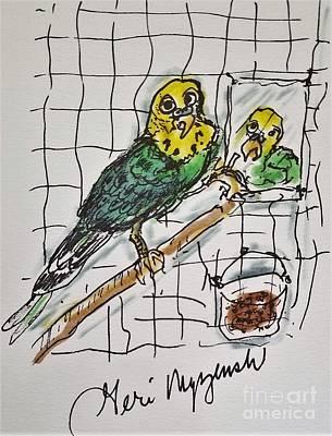 Parakeet Mixed Media - Parakeet by Geraldine Myszenski