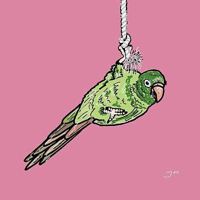 Parakeet Drawing - Parakeet by Pets Portraits