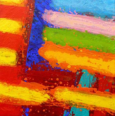 Abstract Movement Painting - Parallel II by John  Nolan