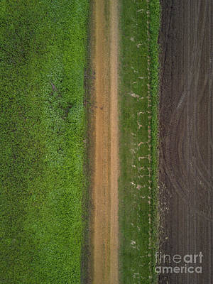 Photograph - Parallel Lines Aerial  by Michael Ver Sprill