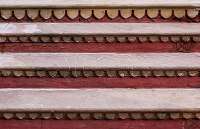 Photograph - Parallel Lines And Repeating Shapes Staircase Minimal by Prakash Ghai