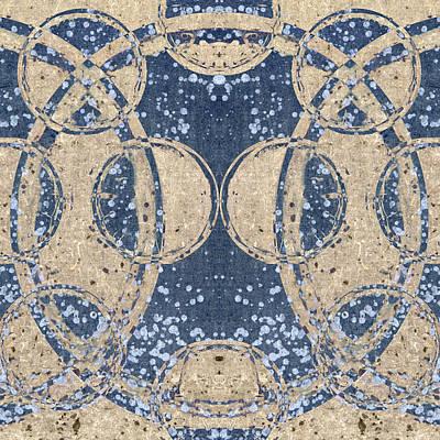 Fabric Digital Art - Parallel Universes 04 by Carol Leigh