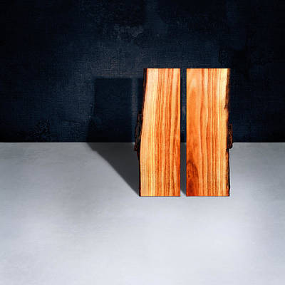 Floating Box Photograph - Parallel Wood by YoPedro