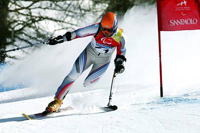 Paralympics Skiier Art Print by Ria Novosti