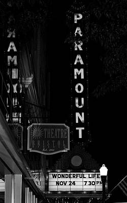 Photograph - Paramount Marquee Bristol Tennessee by Denise Beverly