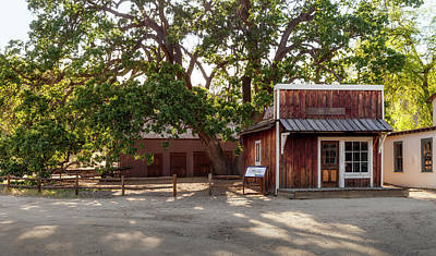 Photograph - Paramount Ranch Barber Shop And Stable by Gene Parks