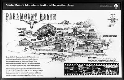 Photograph - Paramount Ranch - Black And White by Gene Parks