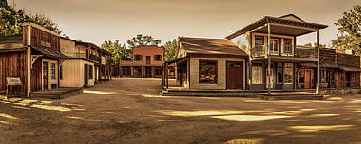 Photograph - Paramount Ranch Main Street - Panorama by Gene Parks