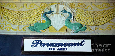 Photograph - Paramount Theatre Sign by Colleen Kammerer