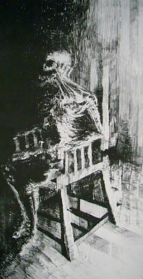 Carcass Drawing - Paranoiac by Nathan Bishop