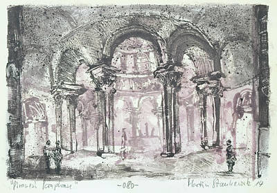 Painting - Paraphrase After Giovanni Piranesi Tomb Of Costanza by Martin Stankewitz