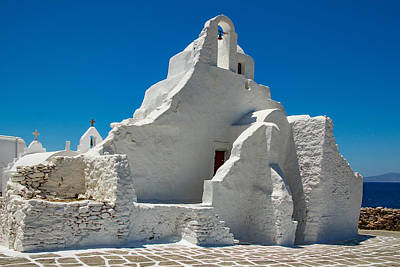 Photograph - Paraportiani Church In Mykonos Island by Antonis Androulakis