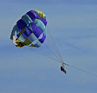 Photograph - Parasailing 4 by Ron Kandt
