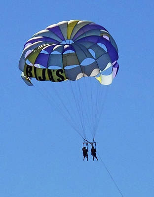 Photograph - Parasailing 5 by Ron Kandt