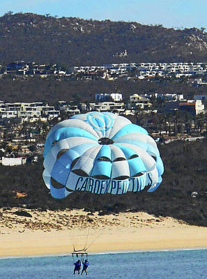 Photograph - Parasailing 7 by Ron Kandt