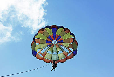 Photograph - Parasailing by Debbie Oppermann