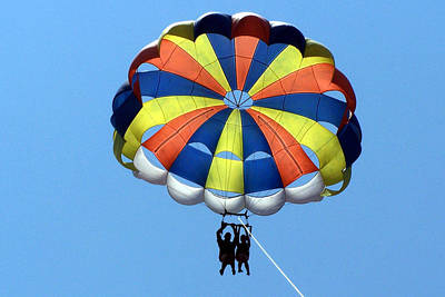 Photograph - Parasailing In Mexico by Sheila Brown