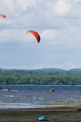 Watercolor Typographic Countries - Parasailing on the Ottawa River 6 by Bob Corson