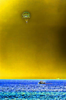Photograph - Parasailing by Steven Parker