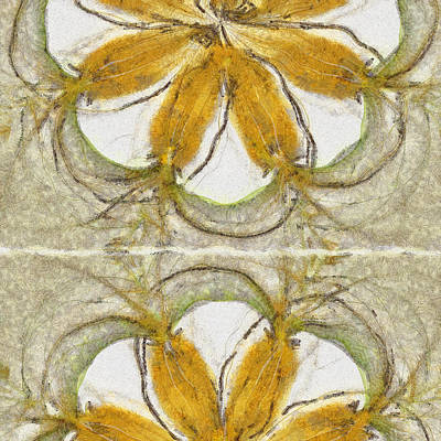 Light Goldenrod Painting - Parasitelike Rainbow Flowers  Id 16163-231150-74450 by S Lurk