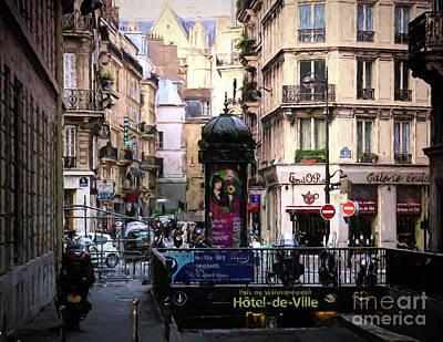 Photograph - Parc De Stationnement Paris  by Chuck Kuhn