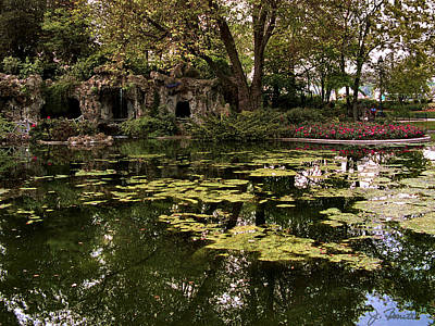 Lilly Pond Photograph - Parc Du Champ De Mars by Joe Bonita