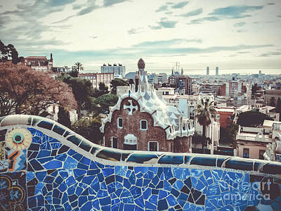 Photograph - Parc Guell A Fairy-tale City by Colleen Kammerer