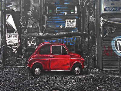 Painting - Parcheggiare A Proprio Rischio by Kevin J Cooper Artwork