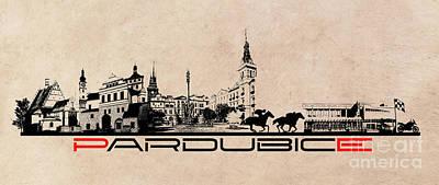 Pardubice Skyline City Art Print by Justyna JBJart