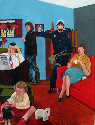 Cop Painting - Parenting In The Sixties by Cecil Williams