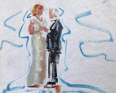 Painting - Parents Of The Bride by Carol Berning