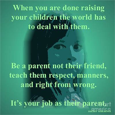 Digital Art - Parents Please by Donna Cavanaugh