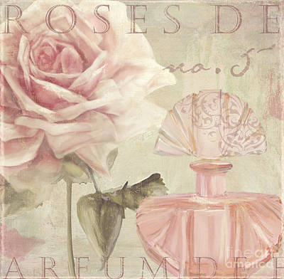 Cologne Painting - Parfum De Roses I by Mindy Sommers
