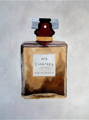 No. 5 Mixed Media - Parfum No.5 by Rebecca Jenkins