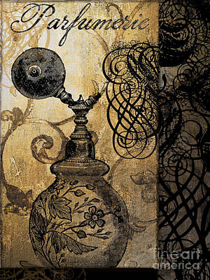 Perfume Bottle Painting - Parfumerie I by Mindy Sommers