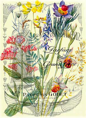 Antique Collage Photograph - Parfums Godet Paris by Delphimages Photo Creations
