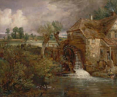Waterwheel Painting - Parham Mill Gillingham by John Constable