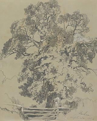 Drawing - Parham, Sept. 30, 1834 by Edward Lear
