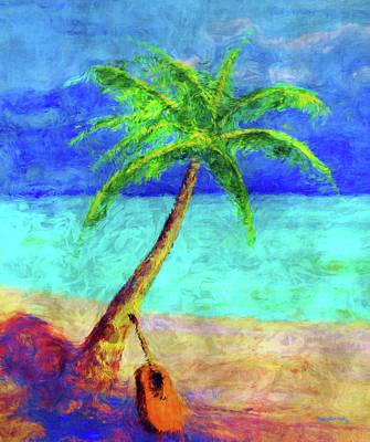 South Sea Mixed Media - Paradise Beach by Ken Figurski