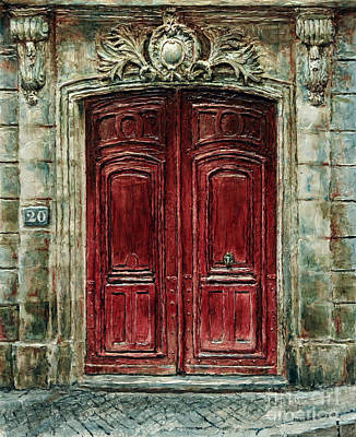 Painting - Parisian Door No. 20 by Joey Agbayani